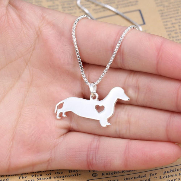 Dachshund Love Necklace