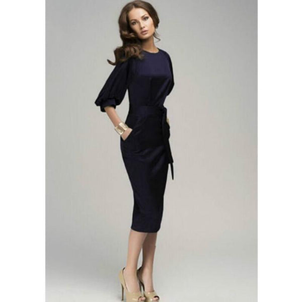 Hepburn - Pencil Belt Dress