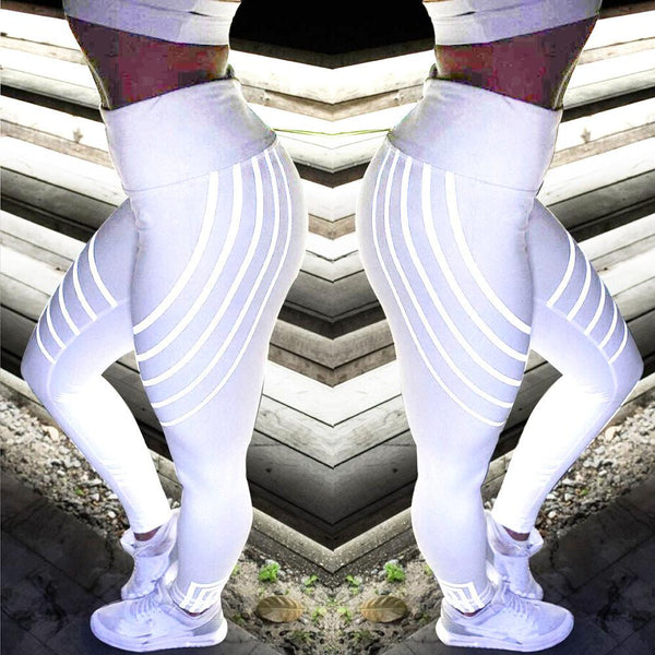 Glow in the Dark Stripe Fitness Leggings