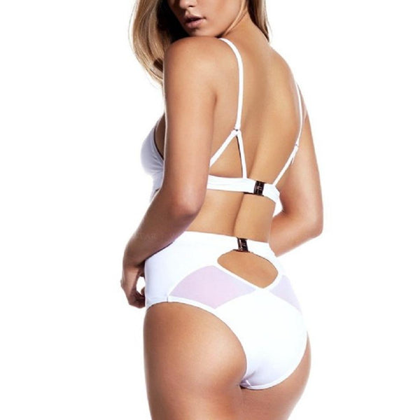 One-Piece Hollow Out Mesh Swimsuit