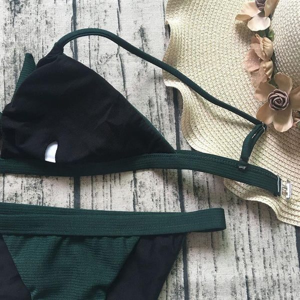 Tie-Up Top Low Waist Bikini