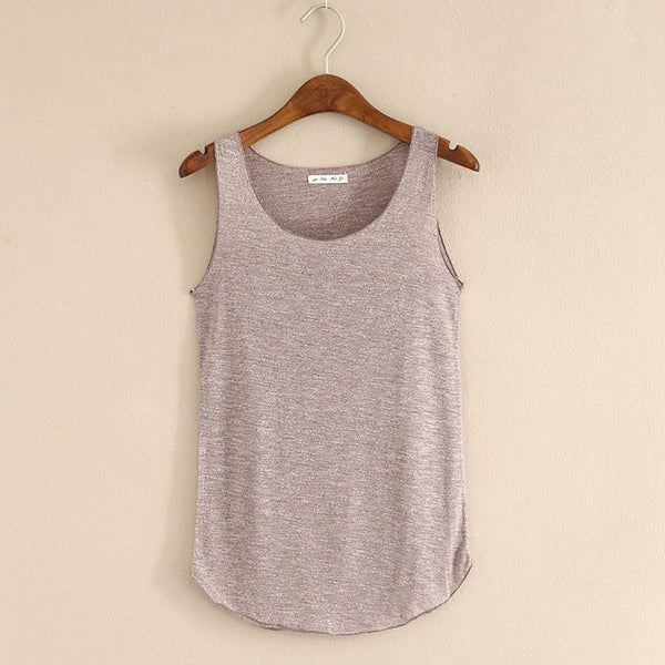 Casual Round Neck Tank Top