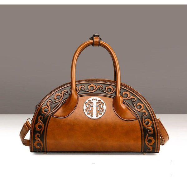 Embossed Chinese Detail Handbag