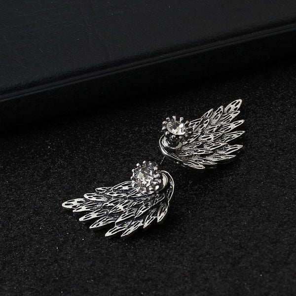 Retro Angel Wing Droplet Earrings