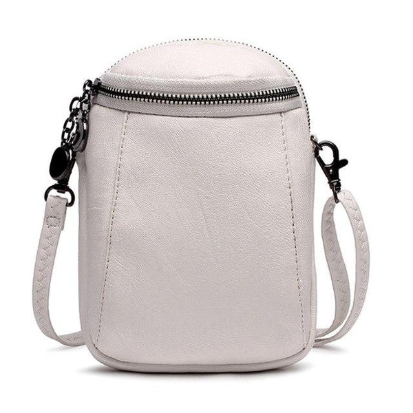 Round Bucket Zip Crossbody Handbag