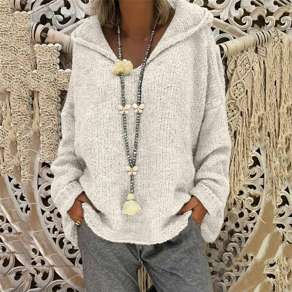 Mckenna - Open Neck Knitted Sweater