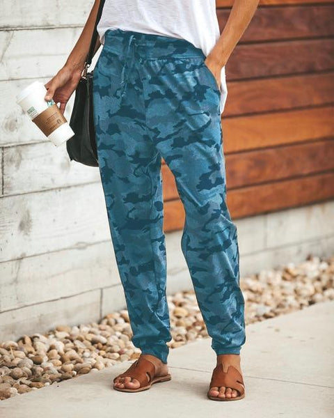 Alex - Camo Drop Crotch Harem Pants
