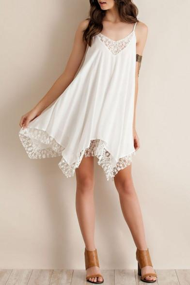 a1e25d994287 Pixi - White Lace Sundress – Fray