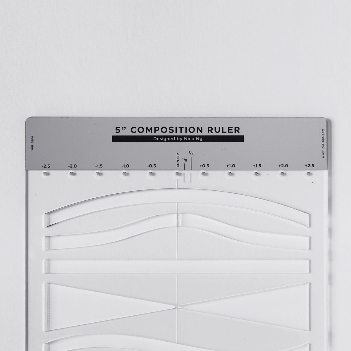 "5"" Composition Ruler by Nico Ng"