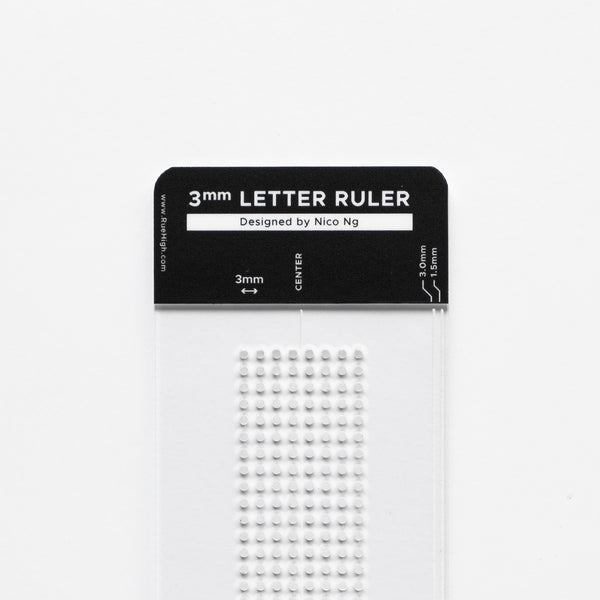 3mm Letter Ruler by Nico Ng