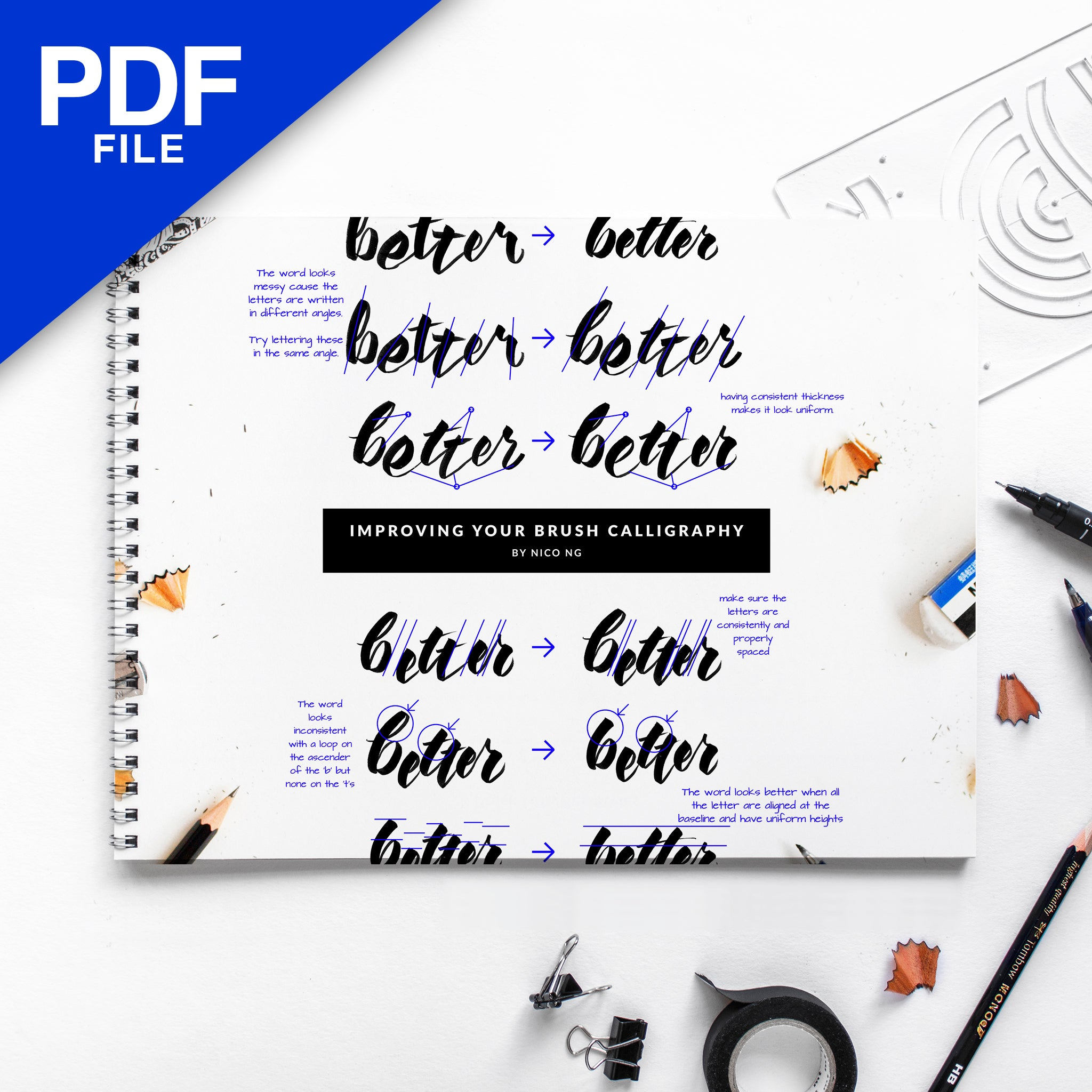 [PDF] Improving Your Brush Calligraphy Workbook by Nico Ng