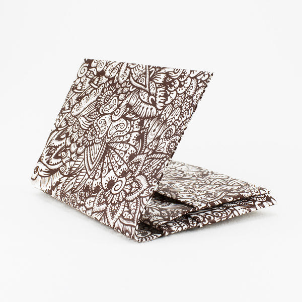 Quick Flip Wallet - Brown Zentangle