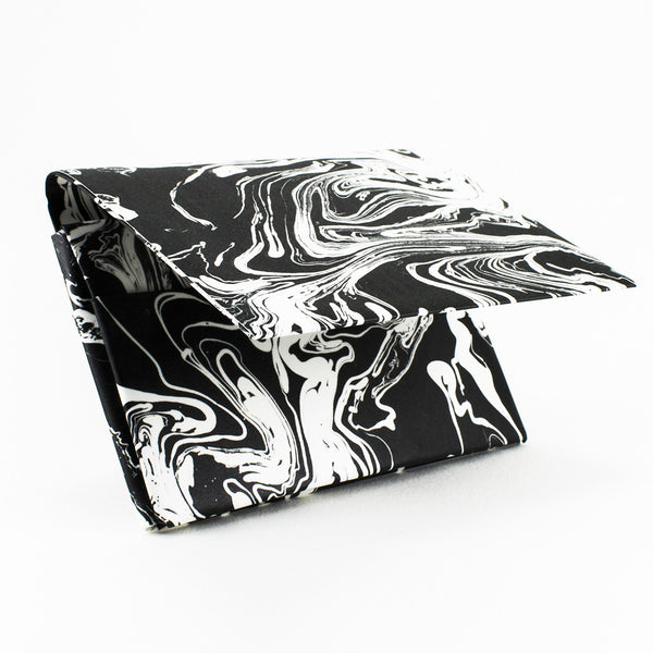 Quick Flip Wallet - Black Marble