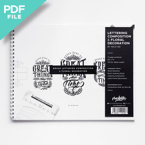 [PDF] Lettering Composition & Floral Decoration Workbook by Nico Ng