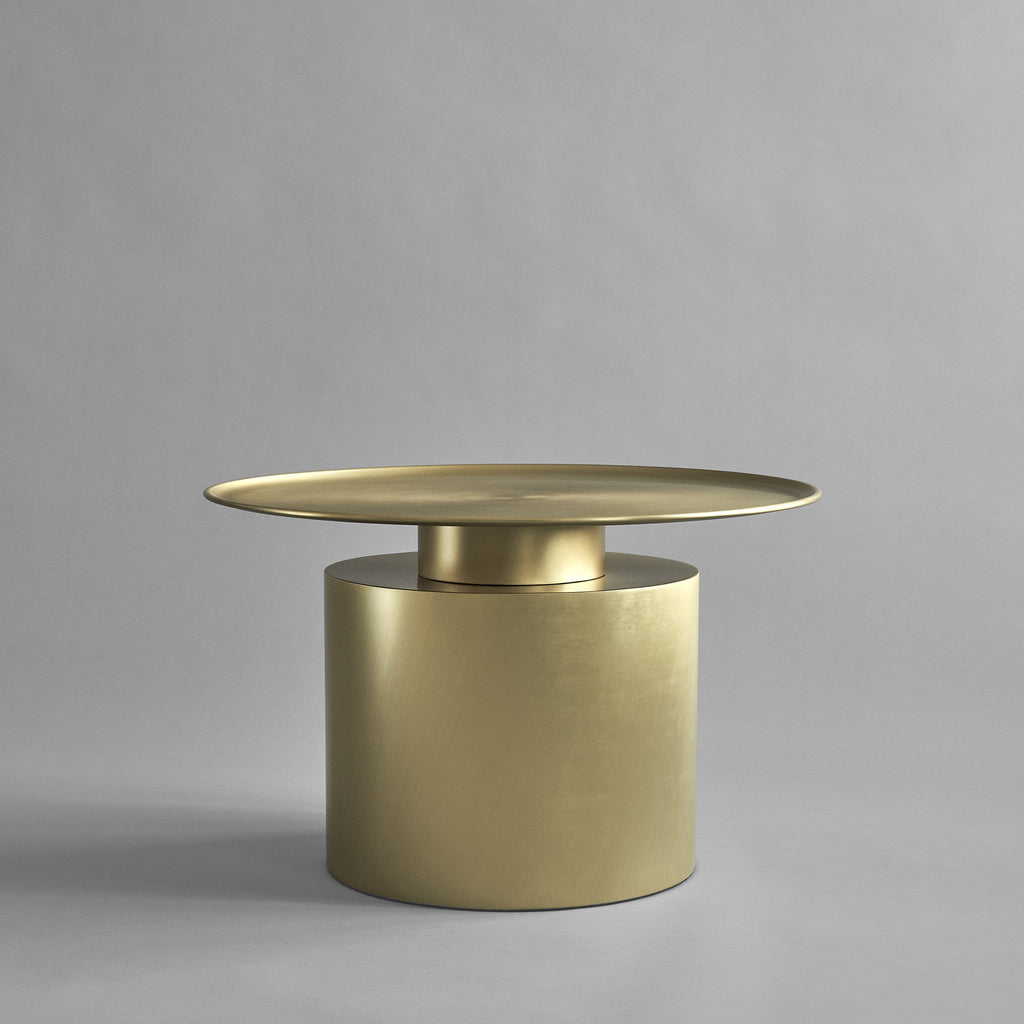 Pillar Table, Low - Brass - 101 CPH