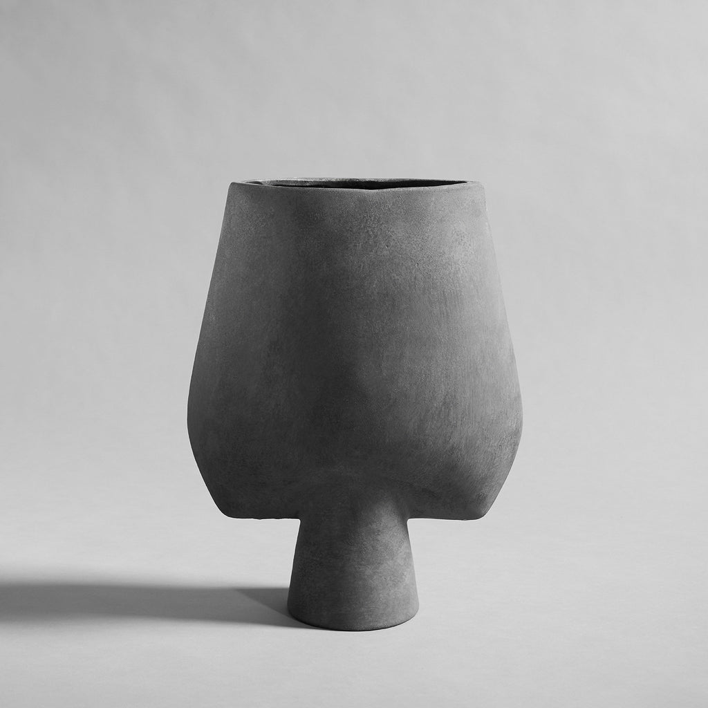 Sphere Vase Square, Big - Dark Grey - 101 CPH