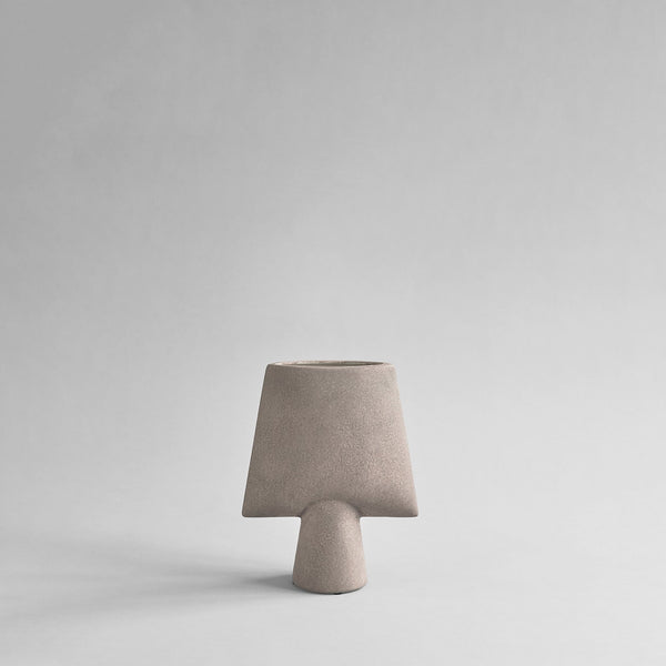 Sphere Vase Square, Mini - Taupe