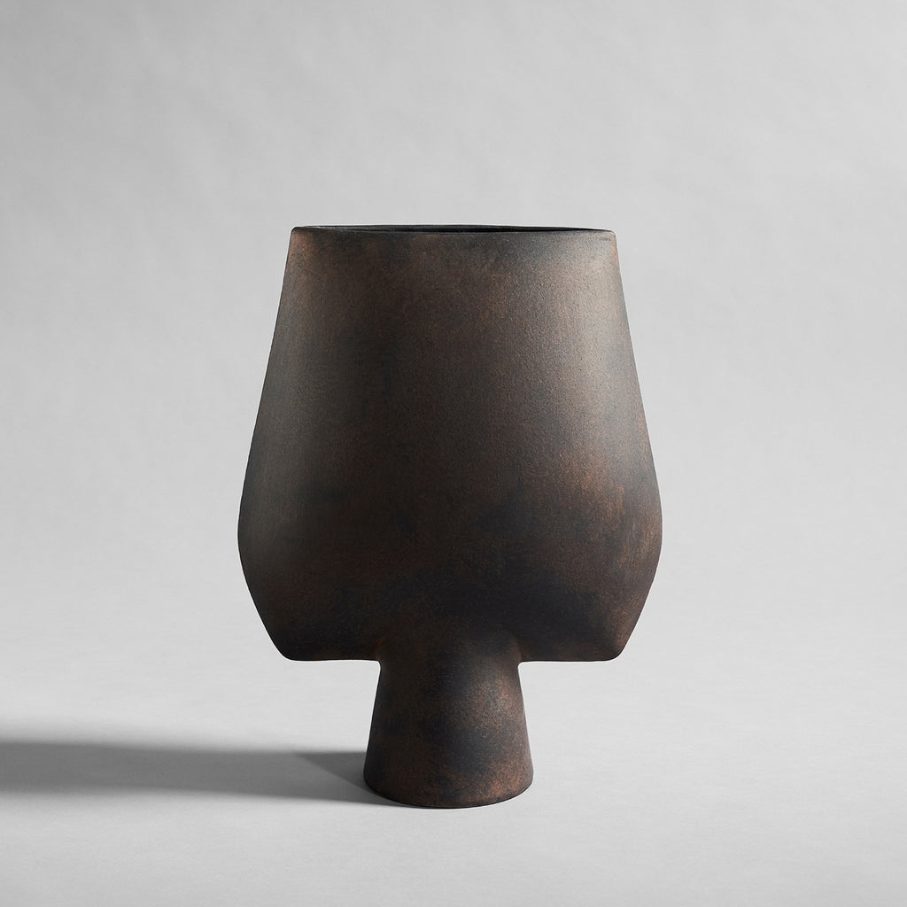 Sphere Square Vase, Big - Coffee - 101 CPH