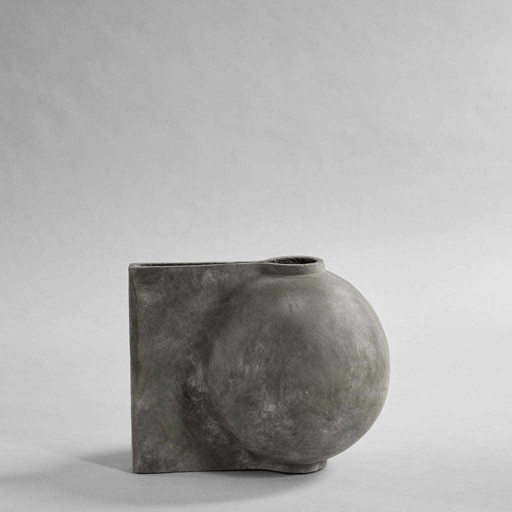Offset Vase, Mini - Dark Grey - 101 CPH