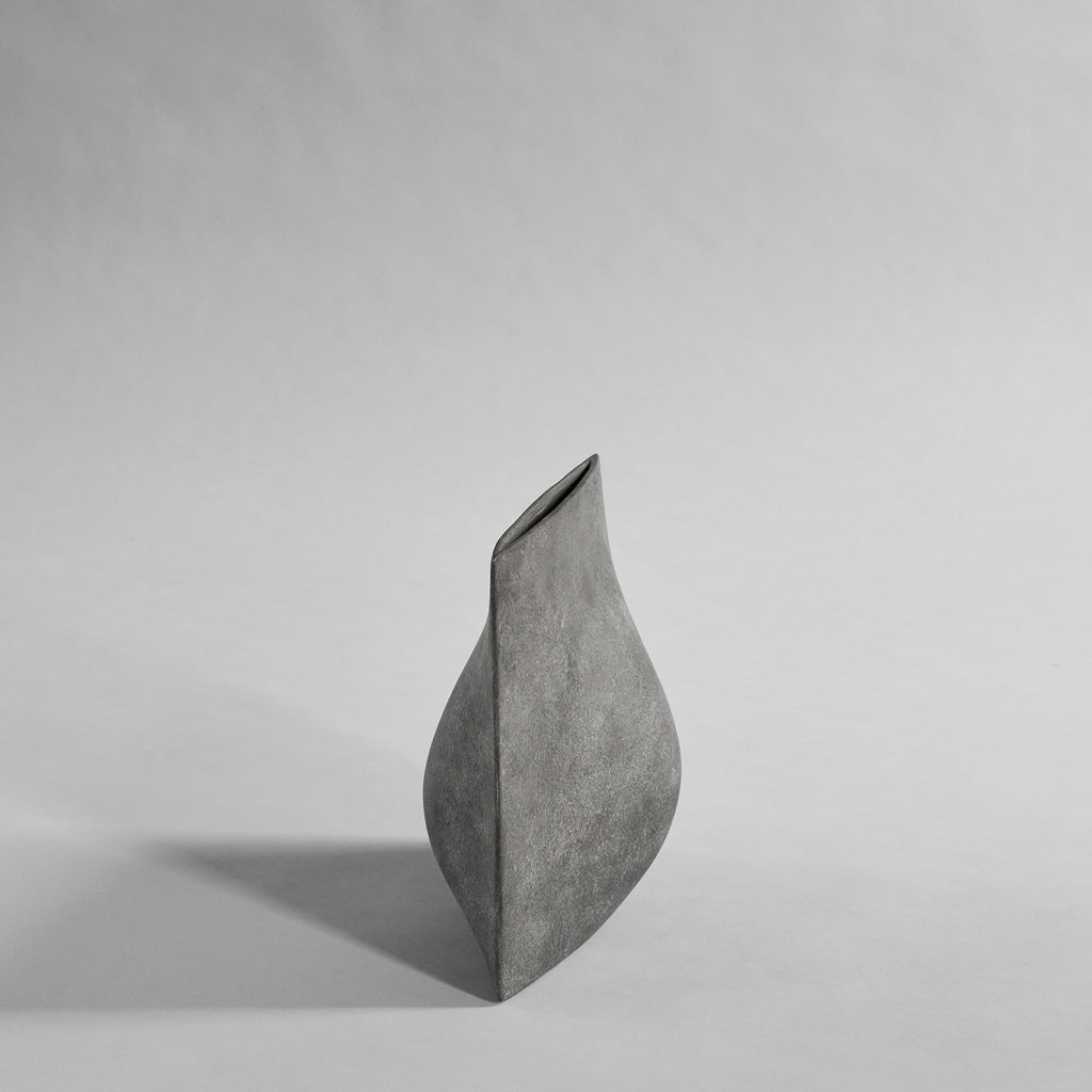 Origami Vase, Mini - Dark Grey