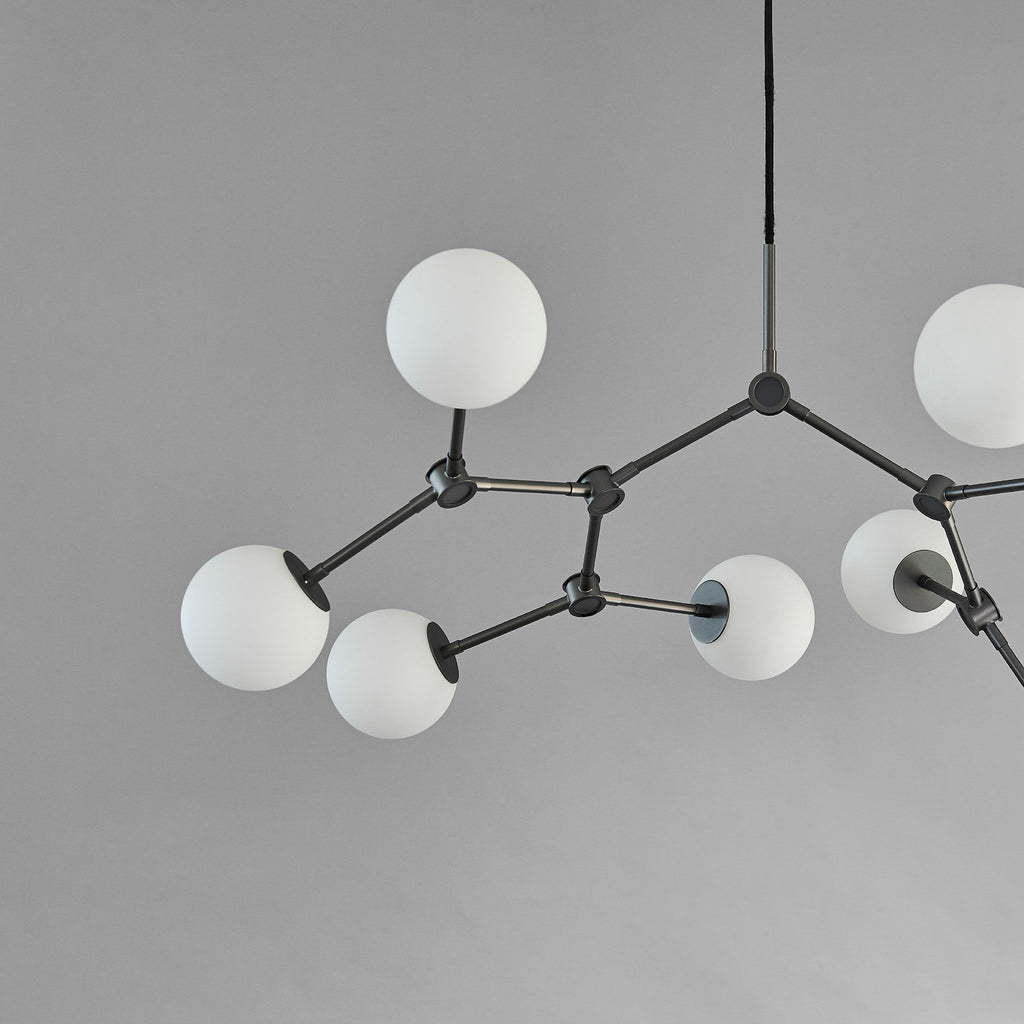 Drop Chandelier Bulp, Mini - Grey
