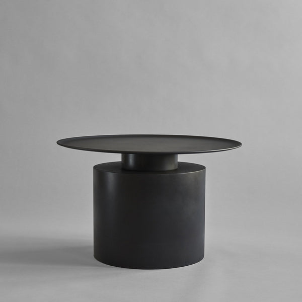 Pillar Table,  Low - Burned Black