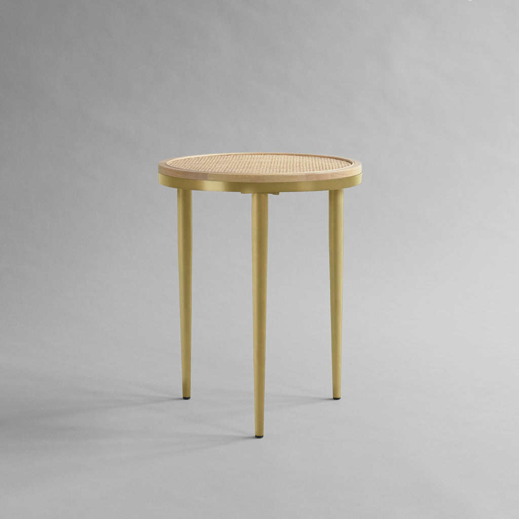Hako Coffee Table, Tall - Brass