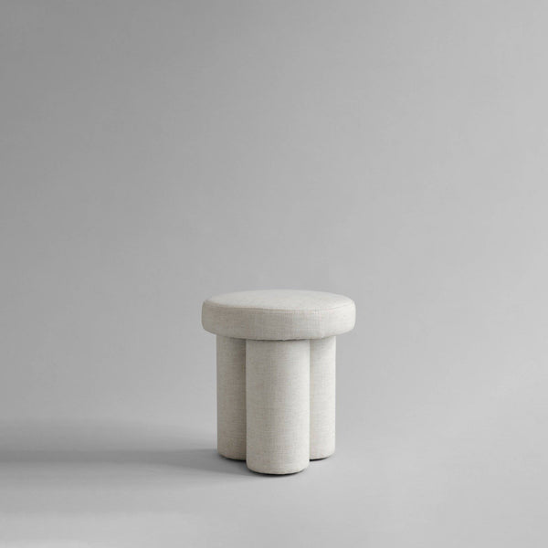 Big Foot Stool, Linen - White Chalk - 101 CPH
