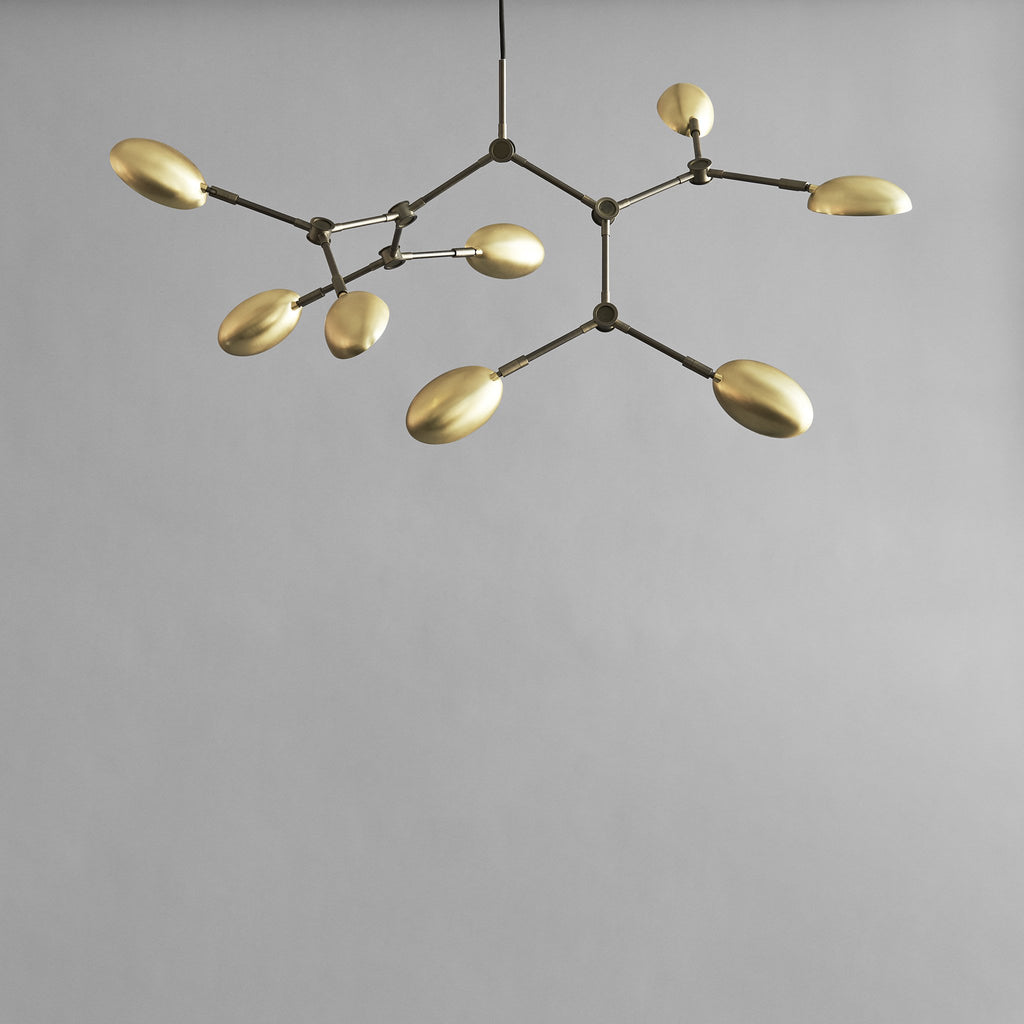 Drop Chandelier, Mini - Brass