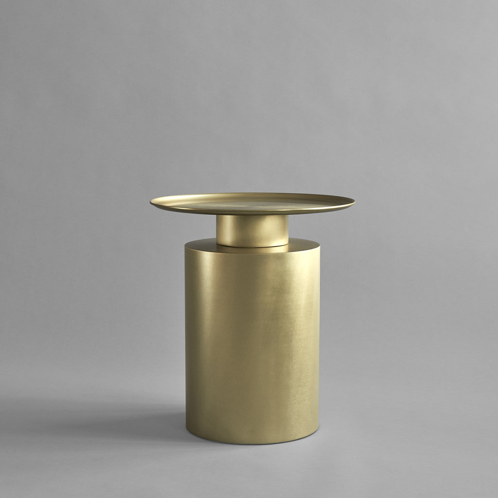 Pillar Table, Tall - Brass