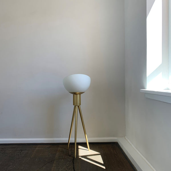 Moonraker Floor Lamp, Brass