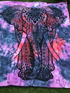 Sunset Elephant Tie Dye Tapestry