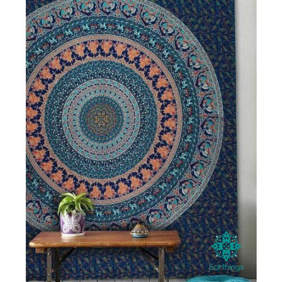Blue Birds Bohemian Mandala Wall Tapestry - EarthingsSA