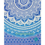Blue Multi Indian Ombre Mandala Wall Tapestry - EarthingsSA