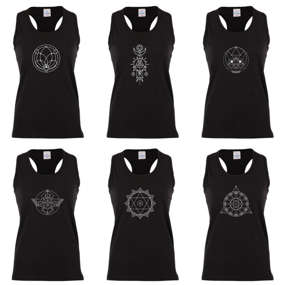 Sacred Geometry Racerback Vests Black