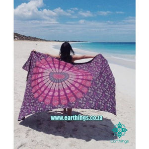 Purple Mandala Wall Tapestry - EarthingsSA
