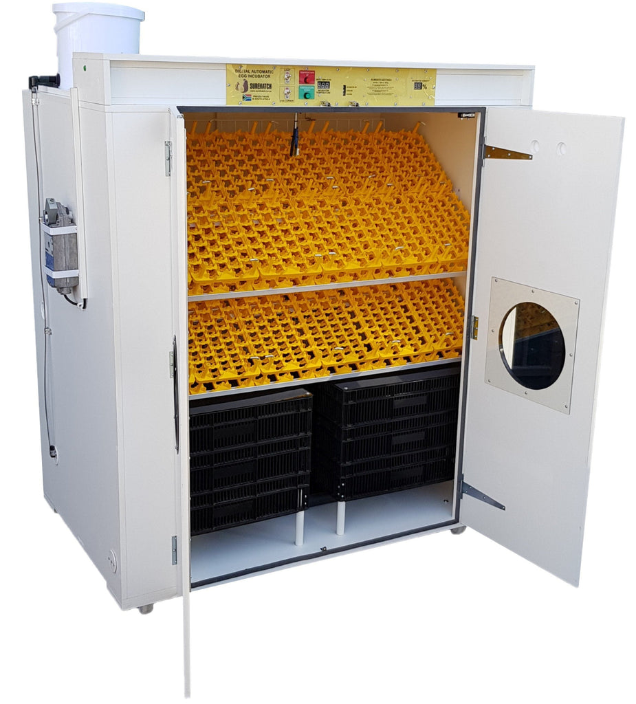 2000 Egg Incubator and Hatcher Combo - Fully Automatic Digital Model SH2000 SuperHatch© - Surehatch Incubators