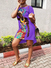 Load image into Gallery viewer, African Girl Tee Dress