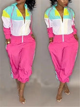 Load image into Gallery viewer, Colorblock Zip-Front Hoodie Jumpsuit