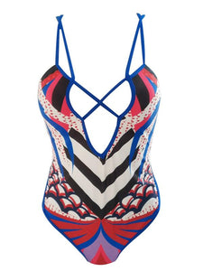 Print Lacing One-piece