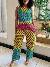 Load image into Gallery viewer, Print Sleeveless Jumpsuit