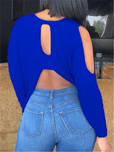 Load image into Gallery viewer, Cold Shoulder Cutout Back Top
