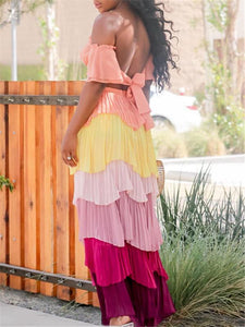 Bandeau Top & Tiered Skirt Set