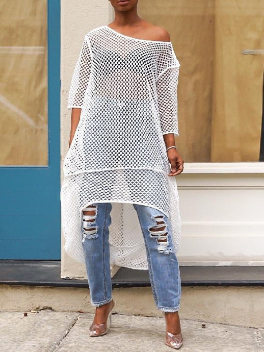 High-low Mesh Cover-up