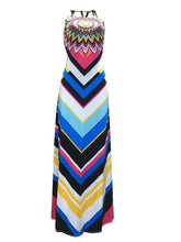 Load image into Gallery viewer, Halter Print Maxi Dress