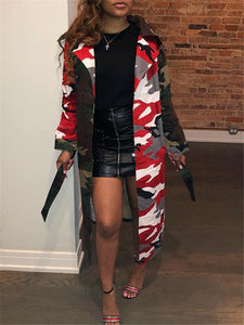 Camo Combo Trench Coat---Only S Left