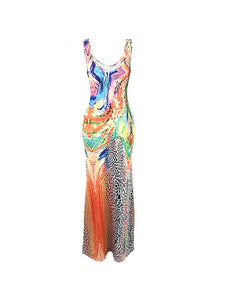 Sleeveless Printed Maxi Dress - sold out
