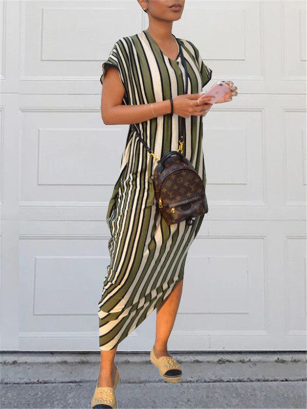 Multi-Striped Loose Dress