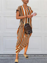 Load image into Gallery viewer, Multi-Striped Loose Dress