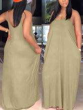 Load image into Gallery viewer, Strappy Slouchy Maxi Dress
